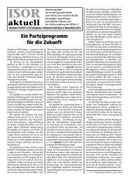 ISOR aktuell Ausgabe 11/ 2011