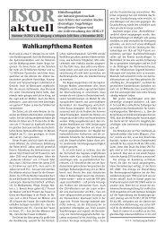 ISOR aktuell Ausgabe 11/ 2012
