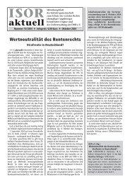 ISOR aktuell Ausgabe 10/ 2004