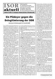 ISOR aktuell Ausgabe 11 / 2005 Seite 1 - 3