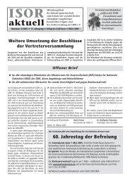 ISOR aktuell Ausgabe 03 / 2005 Seite 1 - 3