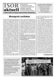 ISOR aktuell Ausgabe 11 / 2006 Seite 1 - 3