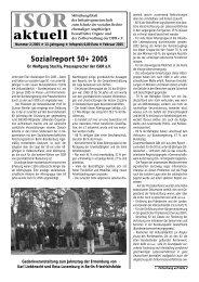 ISOR aktuell Ausgabe 02 / 2005 Seite 1 - 3