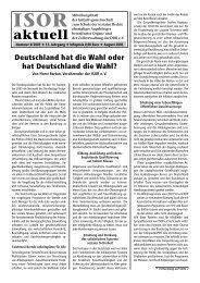 ISOR aktuell Ausgabe 08 / 2005 Seite 1 - 3