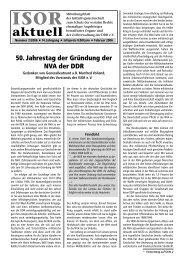 ISOR aktuell Ausgabe 02 / 2006 Seite 1 - 3