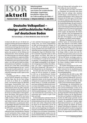 ISOR aktuell Ausgabe 06/ 2010