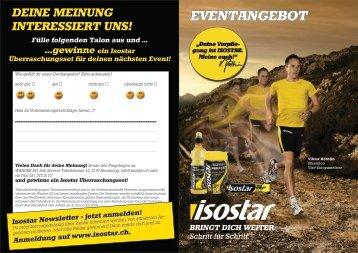 Bestellblatt Event-Angebot - Isostar