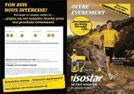 l'Offre spéciale évènement sportif - Isostar