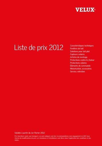 Liste de prix 2012 - Isotosi