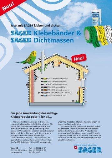 Klebebänder & Dichtmassen - Sager AG