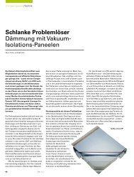 Schlanke Problemlöser Dämmung mit Vakuum- Isolations ... - Isover