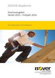 2013/2014 Seminarbroschüre - Isover