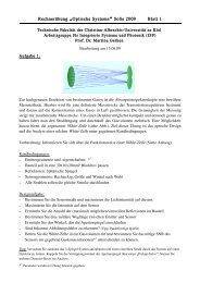 Rechnerübung Optische Systeme SoSe 2009 Blatt 1 - Arbeitsgruppe ...