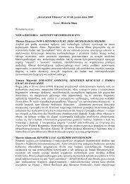NOWA HISTORIA – KONCEPT METODOLO - Instytut Sztuki Polskiej ...