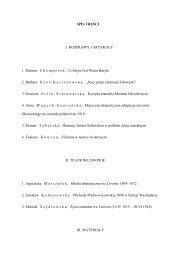 SPIS TREŚCI I. ROZPRAWY I ARTYKUŁY 1. Dariusz C hemperek, Z ...