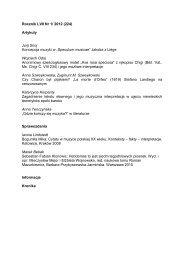 Rocznik LVII Nr 1/ 2012 (224) Artykuły Jurij Snoj Koncepcja muzyki ...