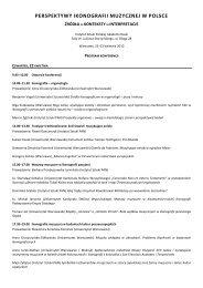 program - Instytut Sztuki Polskiej PAN