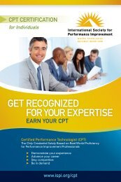 The CPT Brochure - International Society for Performance ...