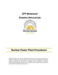 Nuclear Power Plant Procedures - International Society for ...
