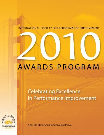 2010 ISPI Award - International Society for Performance Improvement
