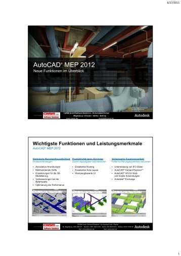 Autocad® MEP 2012 - CWSM Gmbh