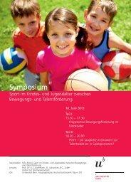 Flyer Symposium - Institut für Sportwissenschaft - Universität Bern