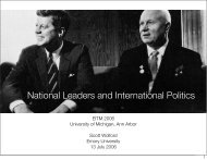 National Leaders and International Politics - Institute for Social ...