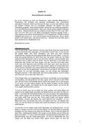 Kapitel 18 Das himmlische Jerusalem Es ist für ... - Israel Shalom