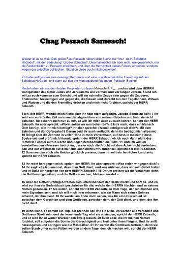 29.03.2010 Chag Pessach Sameach! - Israel Shalom