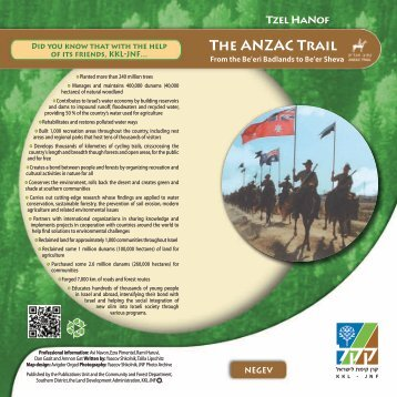 The ANZAC Trail - Israel Trade Commission