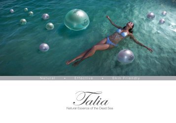to view Talia Skin Care's Information Brochure - Israel Trade ...