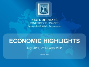 Economic Highlights Presentation - Israel Trade Commission