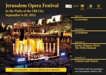 Jerusalem Opera Festival - Israel Trade Commission