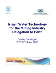 Israeli Water Technology for the Mining Industry Delegation to Perth