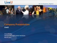 LiveU - Israel Trade Commission