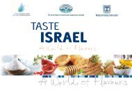 We Invite You On A Culinary Journey - Israel Trade Commission