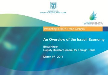 An Overview of the Israeli Economy
