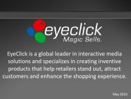 EyeClick is a global leader in interactive media solutions and ...