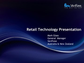 Retail Technology Presentation - Israel Trade Commission