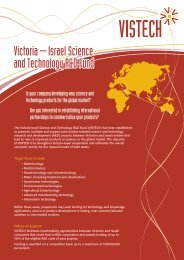 4618_Vistech A4 Flyer FA.qxd - Israel Trade Commission, Sydney ...