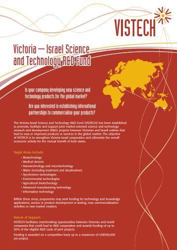 4618_Vistech A4 Flyer FA.qxd - Israel Trade Commission, Sydney ...