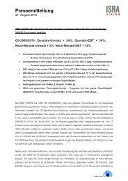Pressemitteilung - ISRA VISION AG