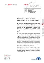 100%-Inspektion von Druck und Oberfläche - ISRA VISION AG