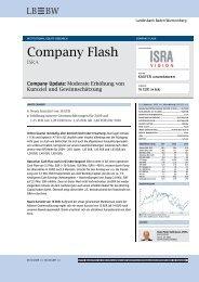 Company Flash - ISRA VISION AG