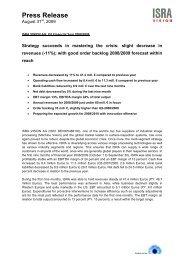 Press Release - ISRA VISION AG