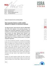Komplette 3D-Oberflächenvermessung von ... - ISRA VISION AG