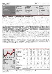 ISRA VISION Buy EUR 26.00 - ISRA VISION AG