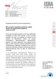Mit neuesten Inspektionsverfahren selbst Fehler ... - ISRA VISION AG