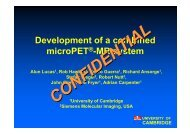Development of a combined microPET®-MR system