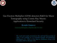 Gas Electron Multiplier (GEM) detectors R&D for Muon Tomography ...
